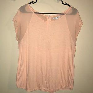 Women's American Eagle Soft Sheer Peach Blouse Top